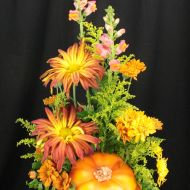 Fall Ceramic Pumpkin Bouquet