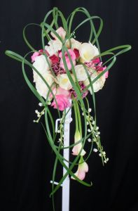Whimsical Lily Grass Bridal Bouquet