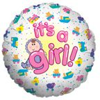 Mylar Balloon Baby Girl