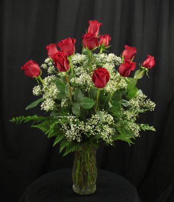 One Dozen Red Roses for Valentine's Day