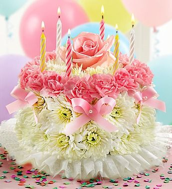 Pretty In Pink Flower Cake
