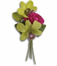 Orchid Celebration Boutonniere T202-1a