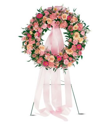 Telefloras Respectful Pink Wreath