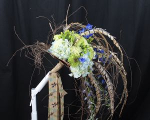 Close-up view ,the Nature Inspired Bridal Bouquet