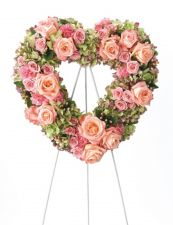 The Pink Rose Garden Wreath