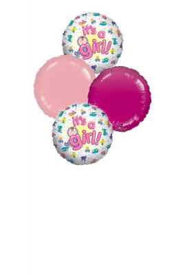 Mylar Balloon Bouquet  for a Baby Girl
