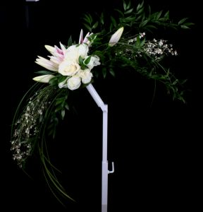 Crescent Shaped Bridal Bouquet