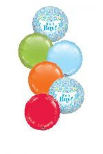 Mylar Balloon Bouquet for a Baby Boy