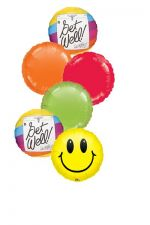 Mylar Balloon Bouquet expressing Get Well
