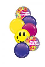 Mylar Balloon Bouquet for a Birthday