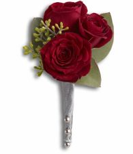Kings Red Rose Boutonniere T203-2a