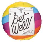 Mylar Balloon Get Well